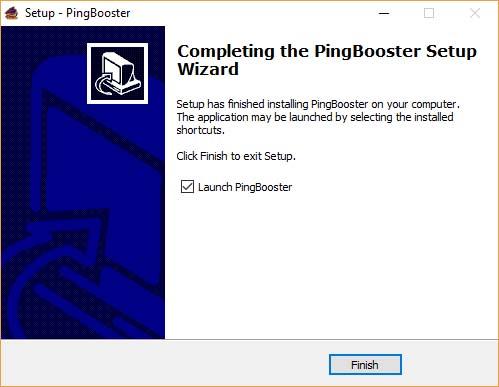 ขั้นตอนการติดตั้งโปรแกรม PingBooster 7