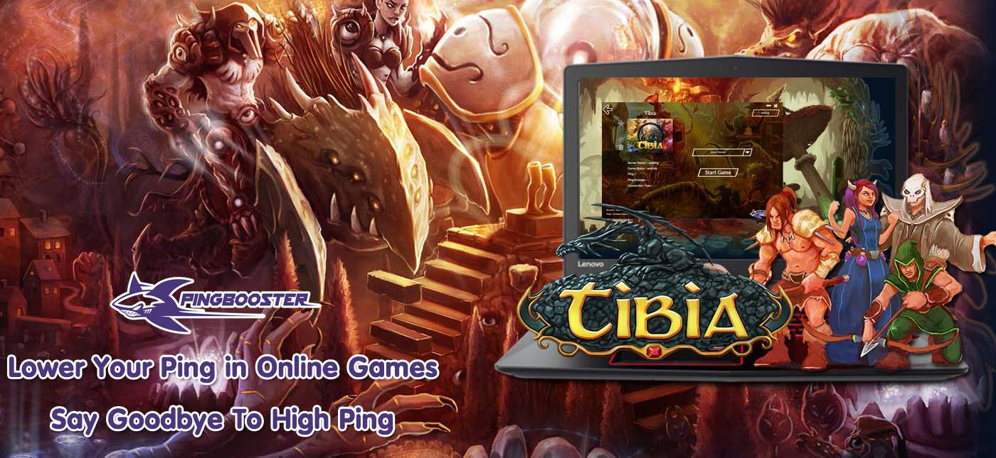 วิธีตั้งค่าเกม Tibia Online เพื่อทะลุบล็อก ลดแลคลดปิงจาก PingBooster