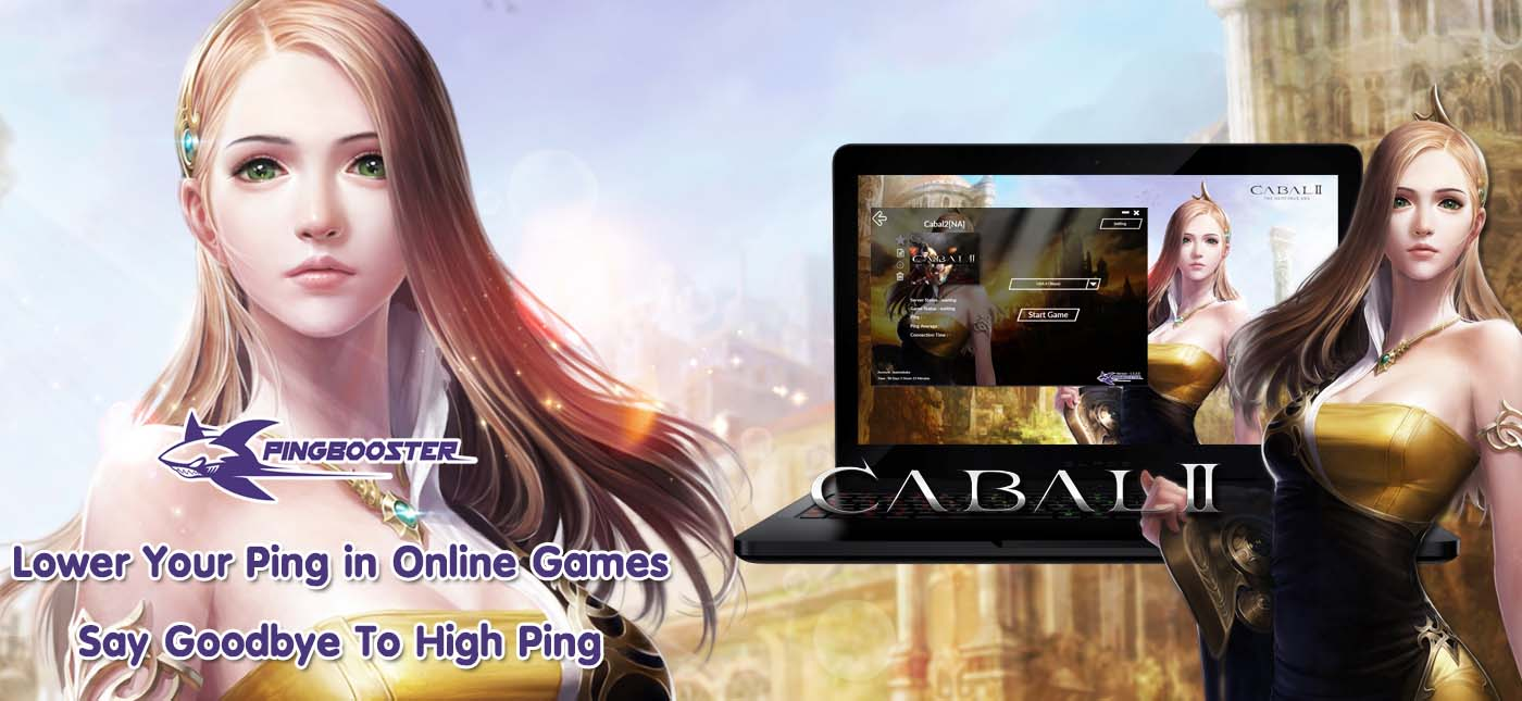 วิธีตั้งค่าเกม Cabal 2  เพื่อทะลุบล็อก ลดแลคลดปิงจาก PingBooster