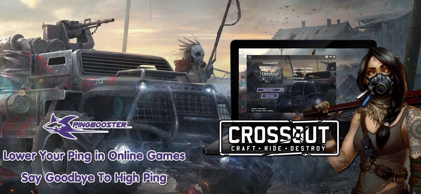 How to use PingBooster play Crossout