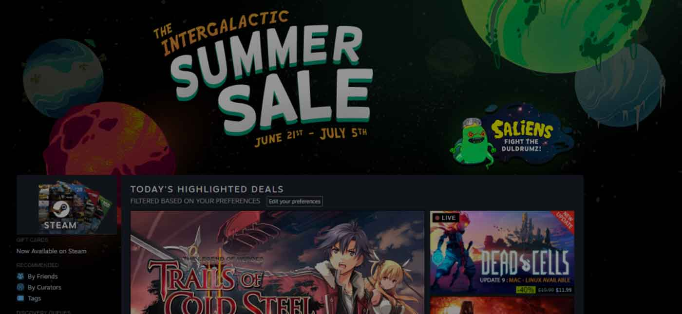 The Steam Intergalactic Summer Sale 2018 Starts Now!