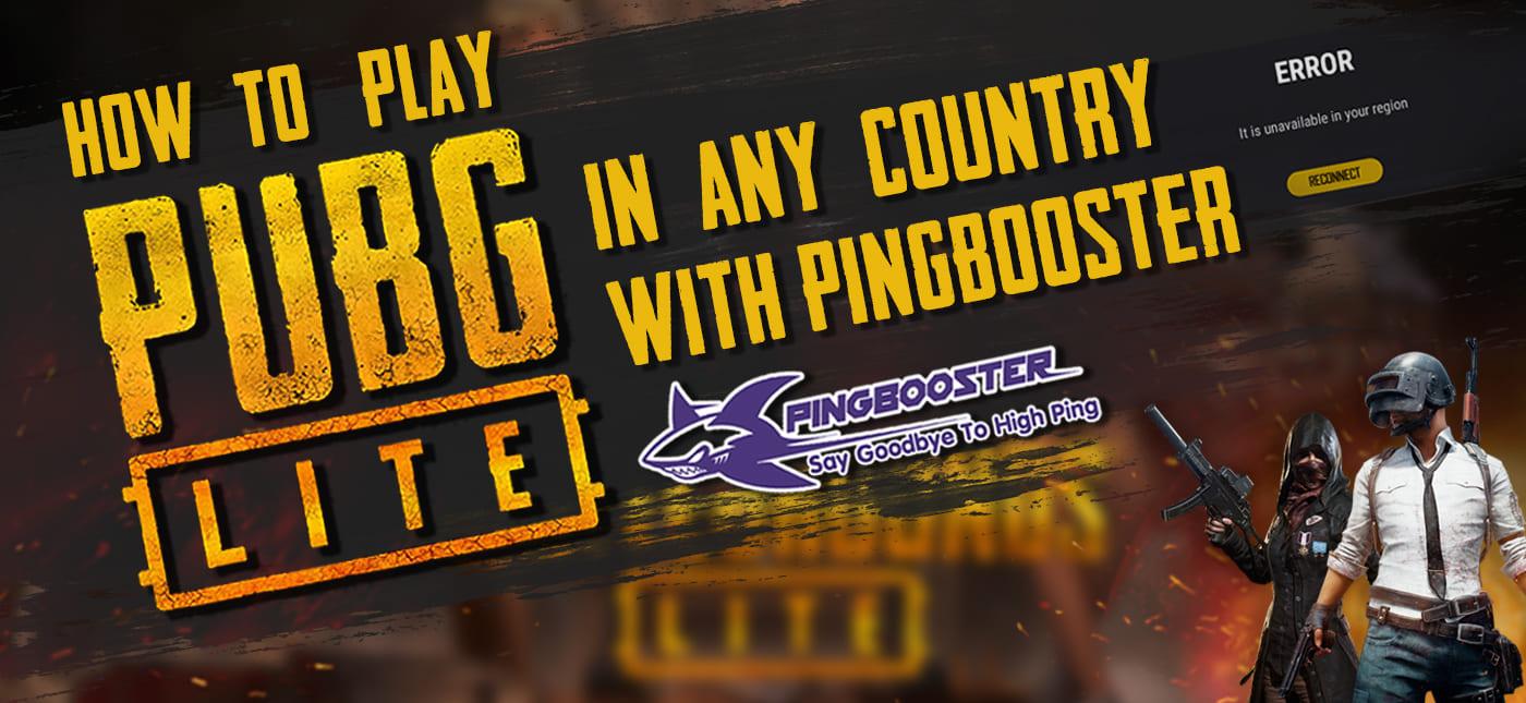วิธีใช้ PingBooster แก้เกม PUBG LITE ขึ้น ERROR It is unavailable your region