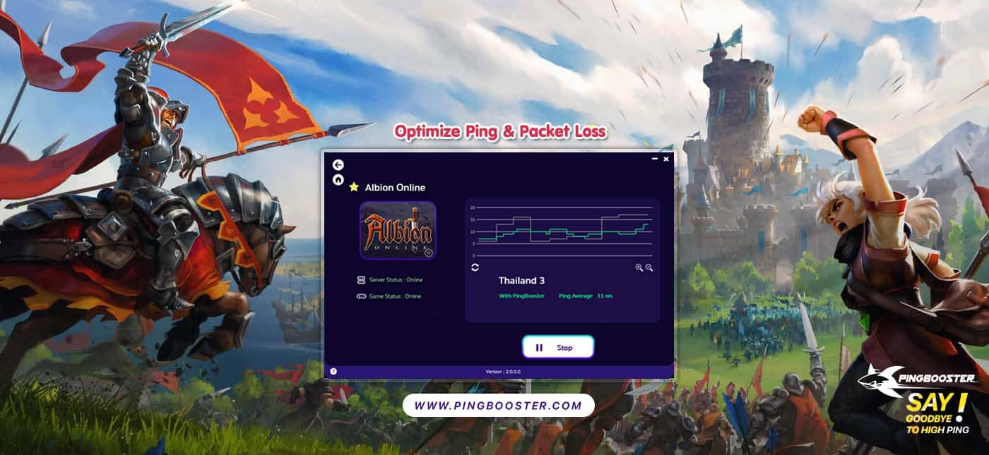 Fix Lag Albion Online  with VPN PingBooster