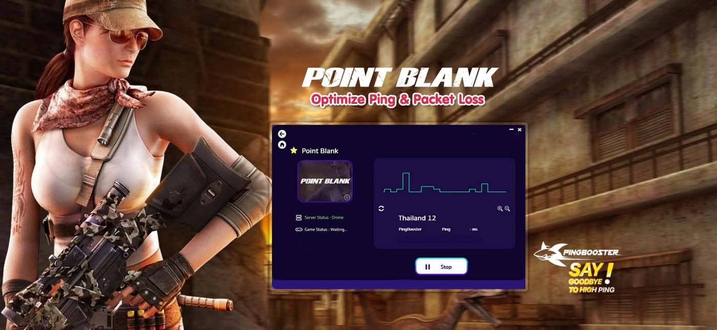 Optimize Ping Point Blank with VPN PingBooster