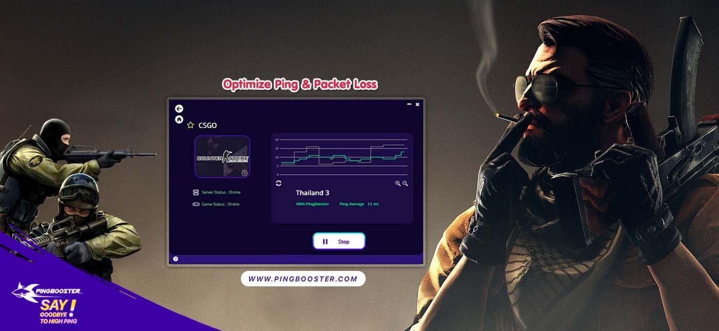 แก้แลค แก้ปิง Counter-Strike: Global Offensive CSGO ด้วย PingBooster กัน