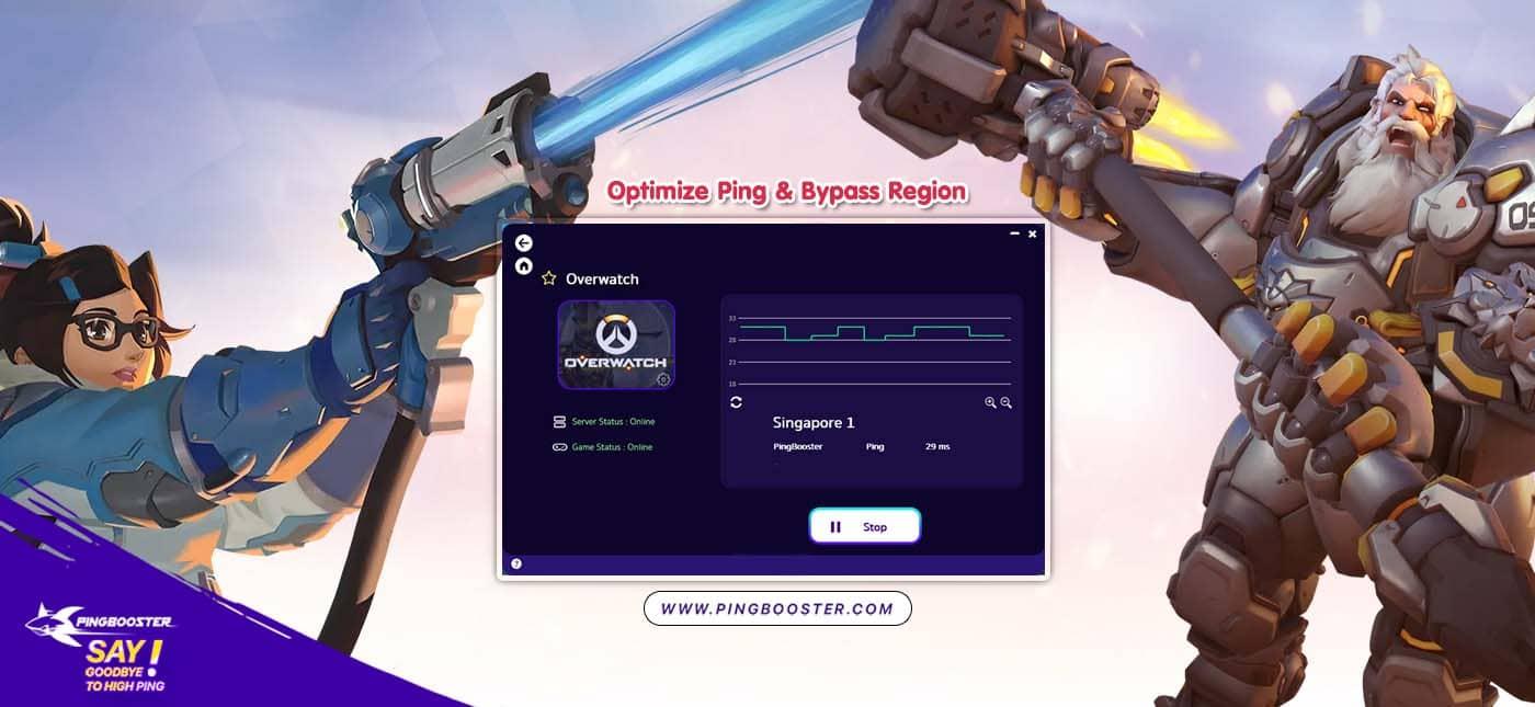 แก้แลค แก้ปิง แถมมุดโซน Overwatch ด้วย PingBooster VPN
