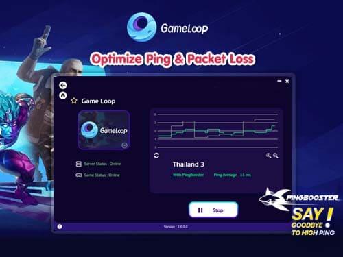 จะใช้งาน GameLoop ต้องใช้คู่กับ PingBooster แก้ปิง แก้แลค
