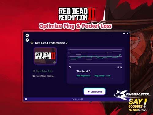 ใช้ Pingbooster เล่น Red Dead Redemption 2 แบบไม่มีสะดุด