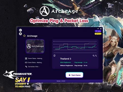 วิธีใช้งาน PingBooster เล่น Archeage Online  แก้แลค แก้ปิงได้ง่ายๆ