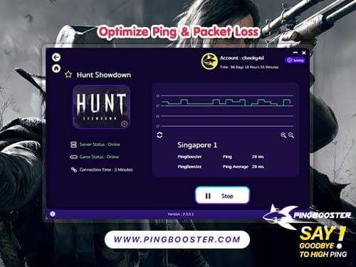 แก้แลค แก้ปิง Hunt Showdown on Steam ด้วย PingBooster