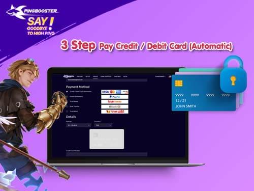 วิธีเติมวัน PingBooster ผ่าน Credit/Debit Card ได้รับวันอัตโนมัติทันทีไม่ต้องรอ