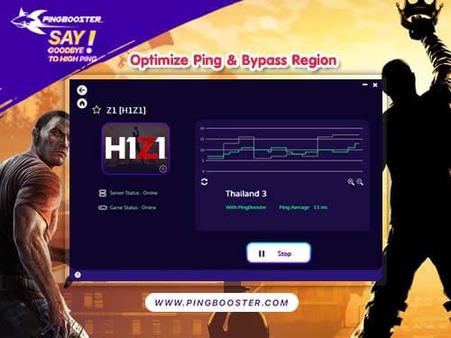 มุดโซน แก้แลต แก้ปิง H1Z1 : Z1 Battle Royale ด้วย VPN PingBooster