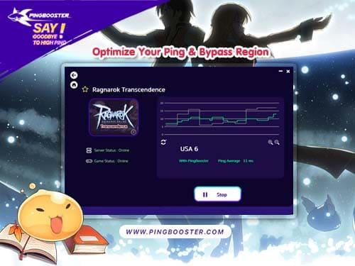 Bypass Region Ragnarok Transcendence (RT) with VPN PingBooster