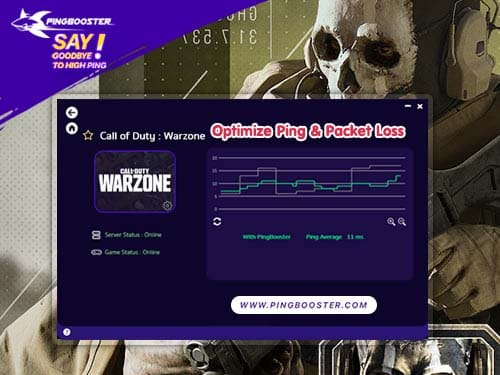 Call of Duty Warzone แลค วาป ดีเลย์ PingBooster ช่วยได้