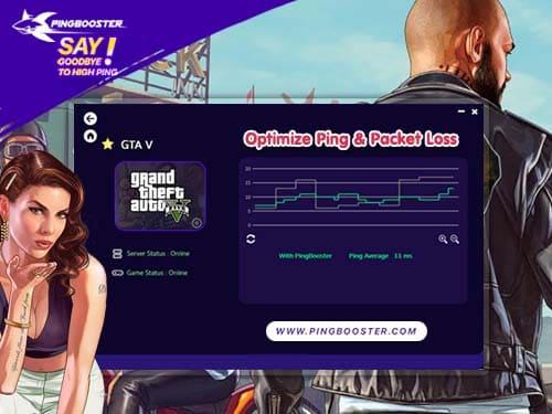 PingBooster แก้แลค แก้ปิง มุดเกม GTA V + FiveM