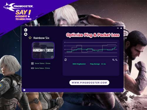 Optimize Ping Tom Clancy's Rainbow Six® Siege with VPN PingBooster