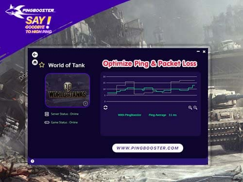 Optimize Ping World of Tanks with VPN  PingBooster