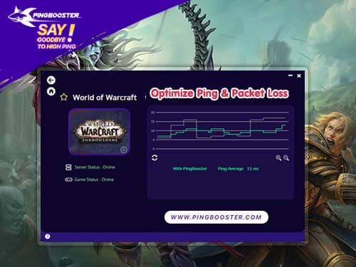 วิธีใช้ PingBooster VPN ลดแลค ลดปิง World of Warcraft