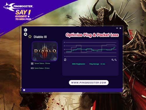 วิธีใช้ PingBooster ลดแลค ลดปิง Diablo 3