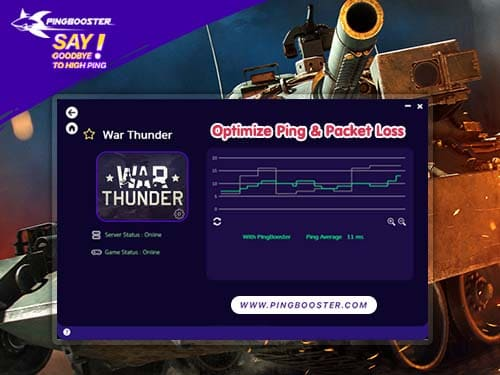 วิธีใช้ PingBooster ที่จะลดแลค ลดปิงเกม War Thunder