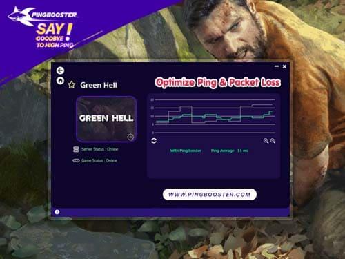 วิธีลดแลค ลดปิง Green Hell ด้วย PingBooster