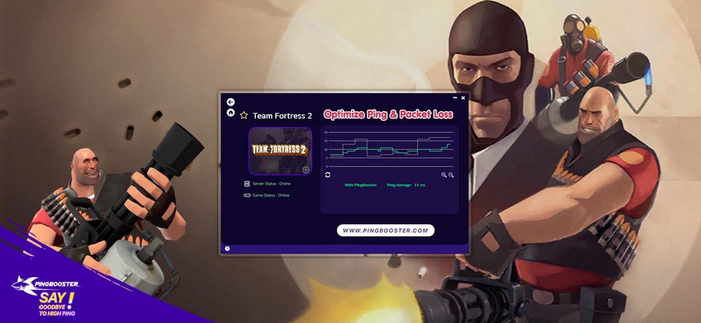 ลดแลค ลดปิง Team Fortress 2  ด้วย PingBooster
