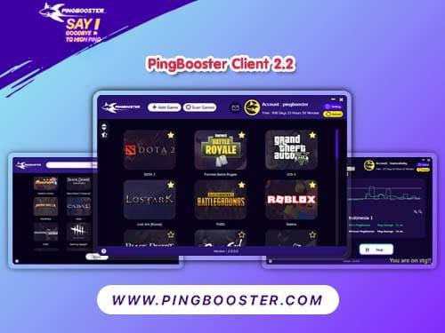 Update PingBooster Client 2.2 พร้อมใช้งานแล้ววันนี้
