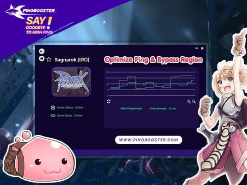 Bypass & Optimize Ping Ragnarok Online with VPN PingBooster