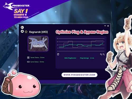 เล่น Ragnarok ด้วย PingBooster VPN ลดแลค ลดปิง มุดเกมได้