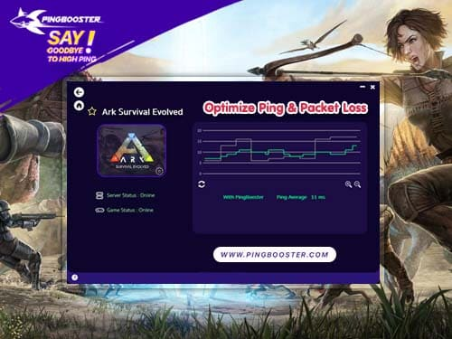 Bypass & Optimize Ping Ark Survival Evolved with VPN PingBooster