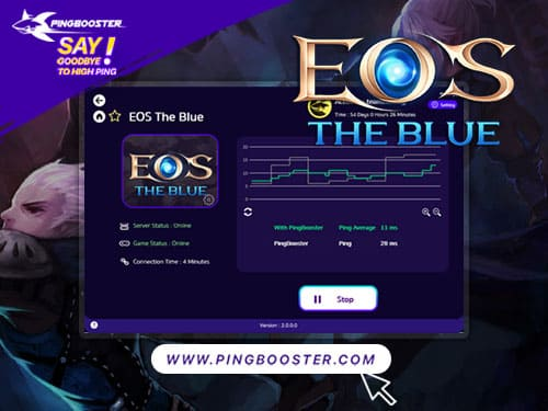 Optimize Ping Reduce Lag Echo Of Soul EOS LINE POD with VPN PingBooster