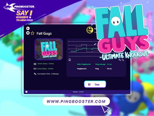 เล่น Fall Guys: Ultimate Knockout ต้องคู่กับ PingBooster วิ่งหลบ พริ้วเพราะไม่แลค