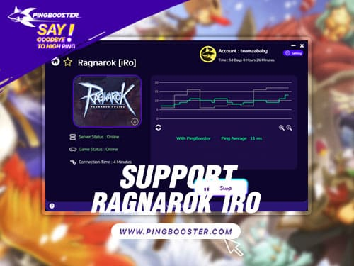 Optimize Ping Ragnarok iRO with VPN PingBooster