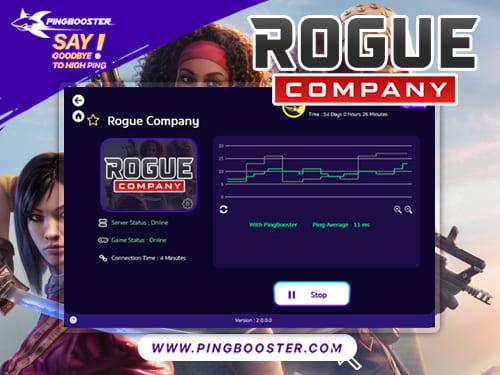 ลดแลค ลดปิงเกม Rogue Company ด้วย PingBooster