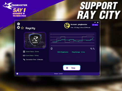 วิธีลดแลค ลดปิงเกม RayCity ด้วย PingBooster
