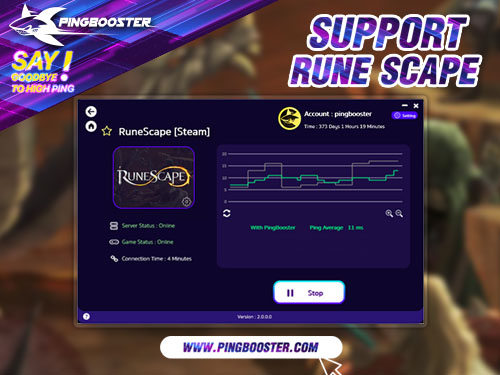 Reduce Lag Rune Scape with VPN PingBooster