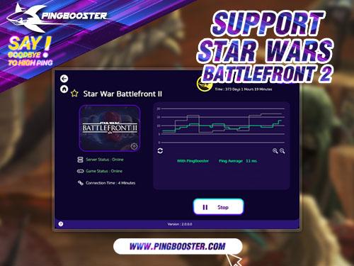 เล่น STAR WARS Battlefront II แลค มาลดแลคลดปิงด้วย PingBooster กัน