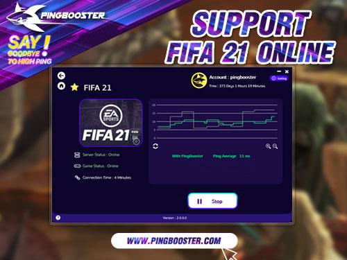 วิธีใช้งาน PingBooster สำหรับเล่นเกม FIFA 21 แก้แลค แก้ปิงดีที่สุด