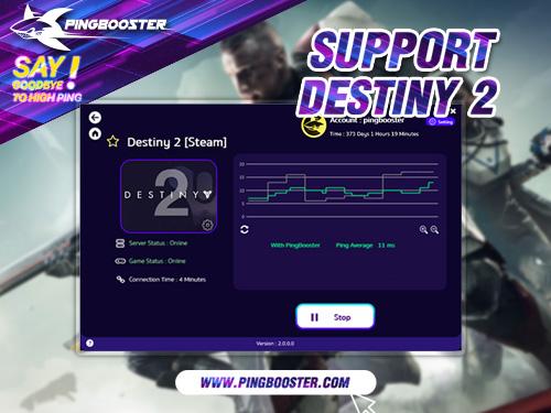 เล่น Destiny 2 ยิงลื่นไม่แลคต้องเล่นคู่กับ PingBooster