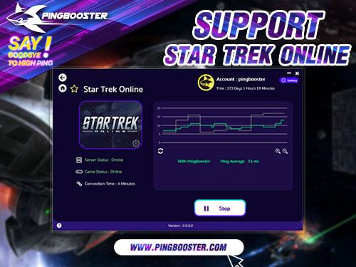 ใช้ PingBooster VPN เล่นเกม Star Trek Online ช่วยลดอาการแลค ปิงสูงได้ดีเยี่ยม