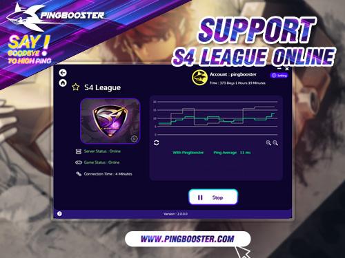 ใช้ PingBooster VPN เล่นเกม S4 League Online ช่วยลดอาการแลค ปิงสูงได้ดีเยี่ยม