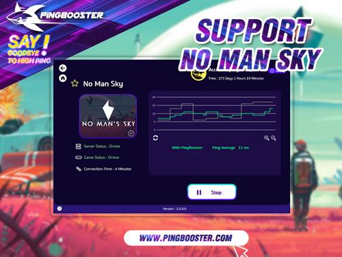 วิธีลดแลค ลดปิงเกม No Man's Sky ด้วย PingBooster