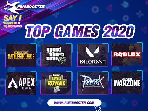 สุดยอด 8 เกมที่ผู้ใช้งานเล่นผ่าน PingBooster มากที่สุดในปี 2020 มีอะไรบ้างมาดูกันเลย