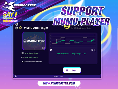 How to MuMu App Player can Reduce Lag with PingBooster.