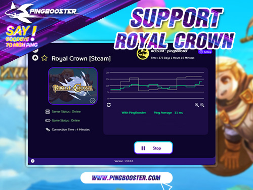PingBooster VPN Support Royal Crown