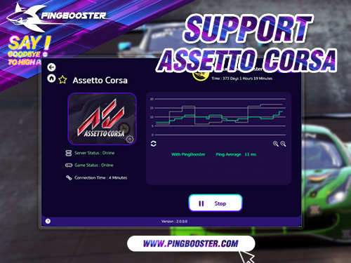 PingBooster VPN Support Assetto Corsa