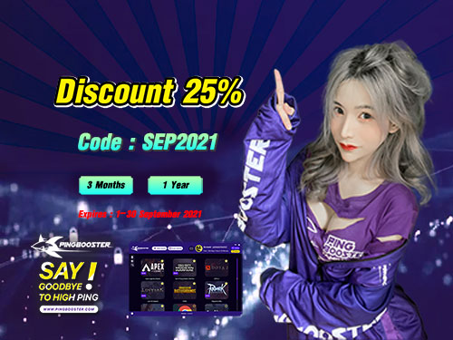 PingBooster special promotion 25% off for 3M & 1Y