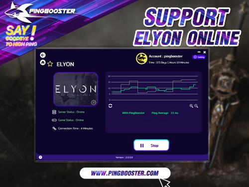 PingBooster VPN Support Elyon Online