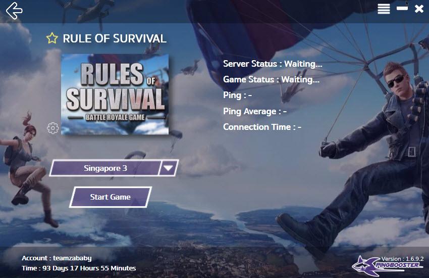 วิธีลดแลค ลดปิง ทะลุบล็อคเกม Rule of Survival Online ด้วย PingBooster