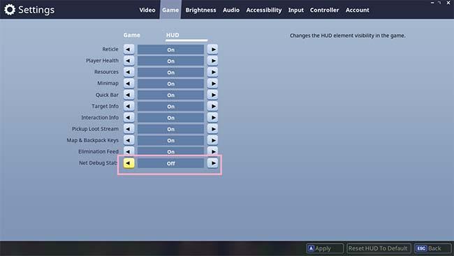 วิธีเช็คค่าปิง (Ping) ในเกม Fortnite Battle Royale ขณะเล่นทำยังไงมาดูกันเลย